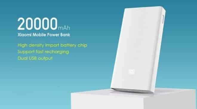 PAS CHERE batterie externe 20000mAh Xiaomi Mi QC 3.0