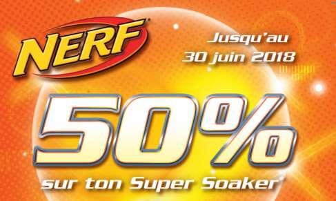 Pistolet à eau Super Soaker Nerf 50% remboursé