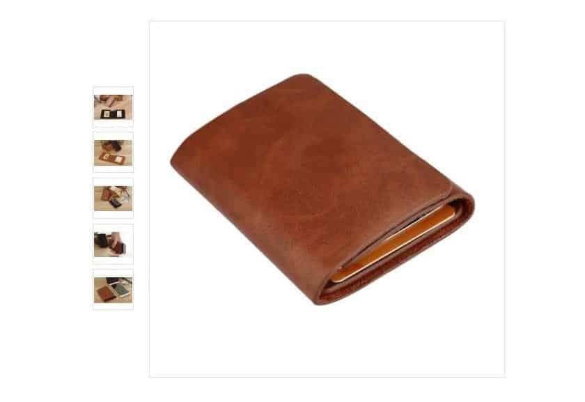 Portefeuille en cuir pas cher 2,90€ avec livraison gratuite