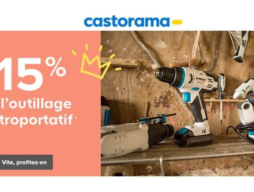 Remise sur les outils électroportatif de 15% sur Castorama