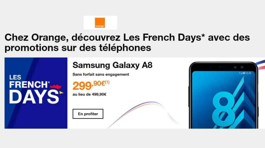 smartphones et objets connect s en promo pour les french days orange. Black Bedroom Furniture Sets. Home Design Ideas