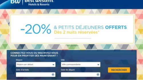 Vente Flash Best Western