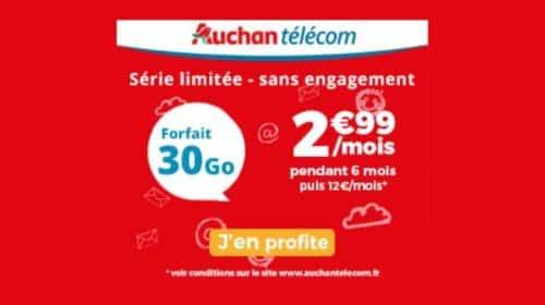 Vente Flash forfait 30Go Auchan Telecom