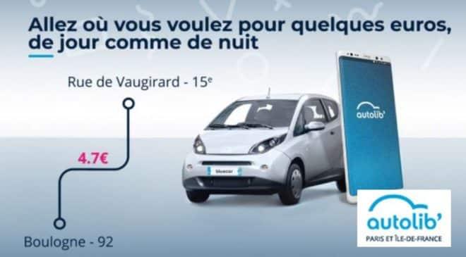 vente privée autolib' premium : 40€ pour 12 mois abonnement + 1ère