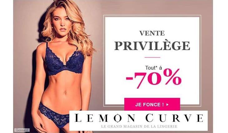 Vente privée Lemon Curve remise sur toute une sélection de lingerie de marques