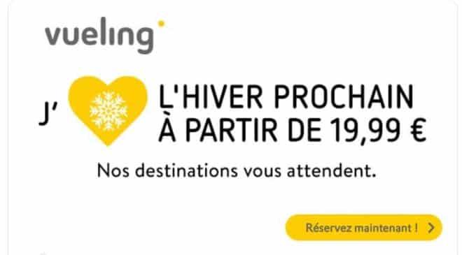 billet d'avion Vueling pas cher à partir de 19,99€