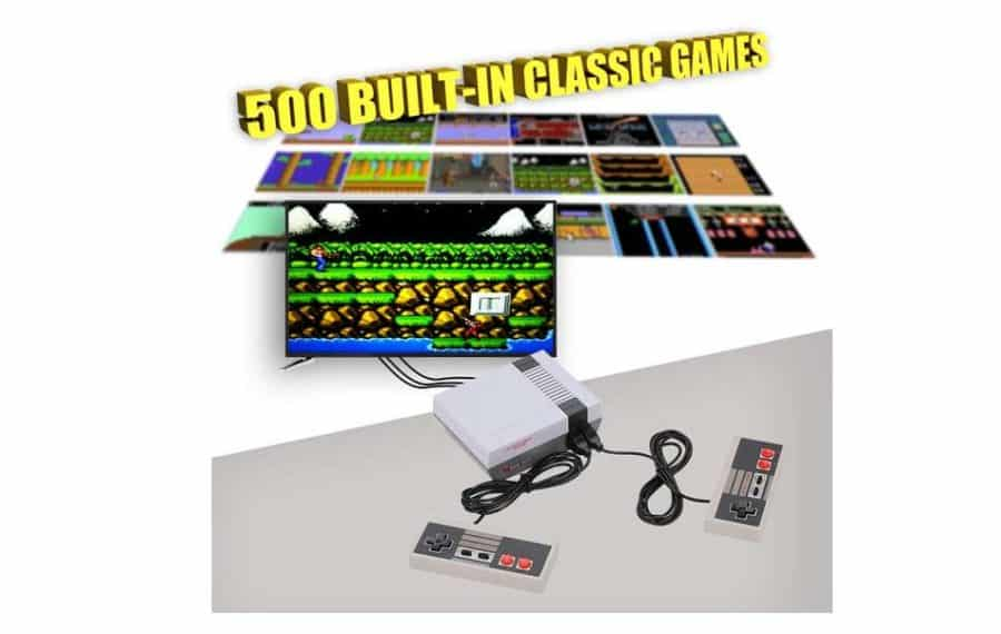 13 39 la console retro nes mini 500 jeux inclus for Alimentation maison prix