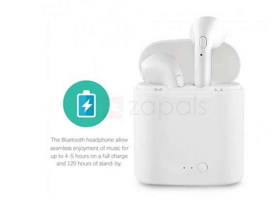 écouteurs Bluetooth sans fils avec station de charge i7S