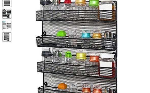 étagère métallique à épices 4 niveaux
