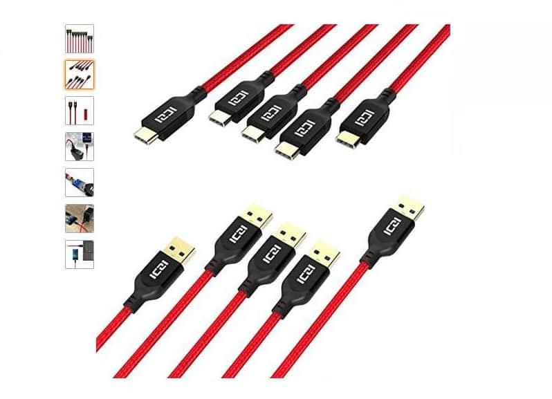 moins de 10€ le lot de 5 câbles USB C vers USB 3.0 ICZI