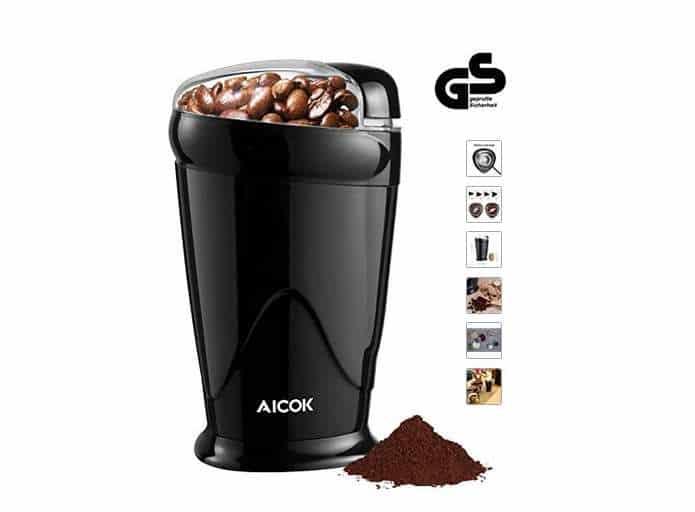 moulin à café électrique (mais aussi pour noix, épices, poivre...) 150W Aicok