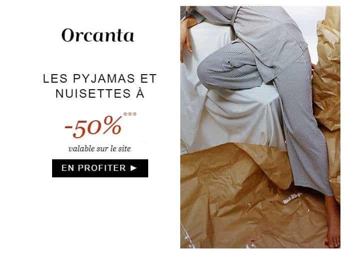 outes les nuisettes et pyjamas à moitié prix sur Orcanta