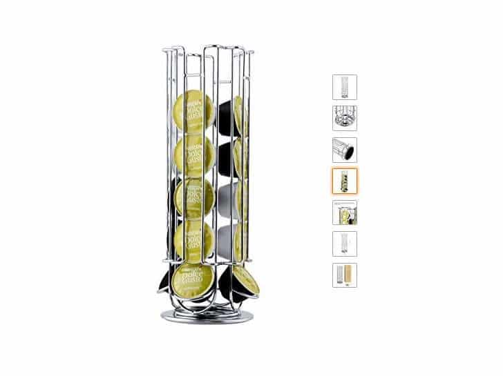 8 39 le porte dosettes caf dolce gusto rotatif chrom. Black Bedroom Furniture Sets. Home Design Ideas
