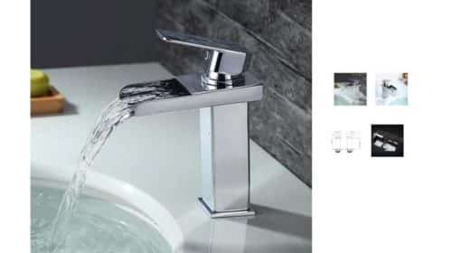 robinet mitigeur cascade de salle de bain Homelody à 29,99€