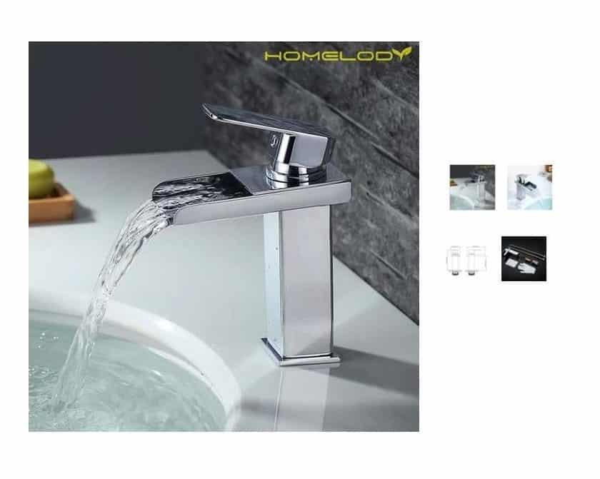 robinet mitigeur cascade de salle de bain Homelody à 35,99€