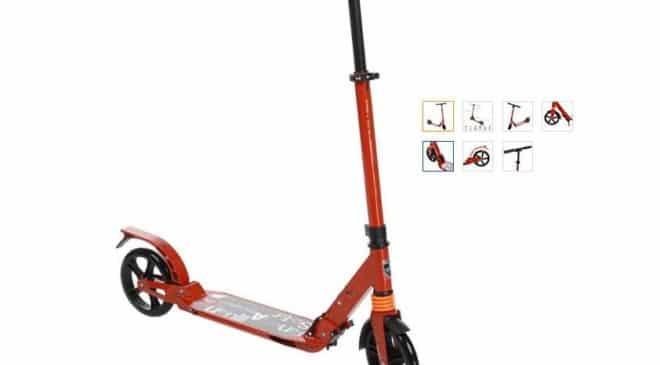 trottinette Befied pliable avec hauteur ajustable et roues antichoc pas chère