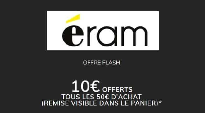 10€ de remise sur Eram tous les 50€