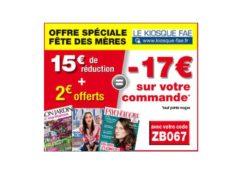 -17€ sans minimum sur les abonnements magazines pour la fête des mères 🎁