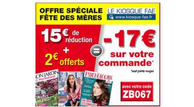 -17€ sans minimum sur les abonnements magazines pour la fête des mères