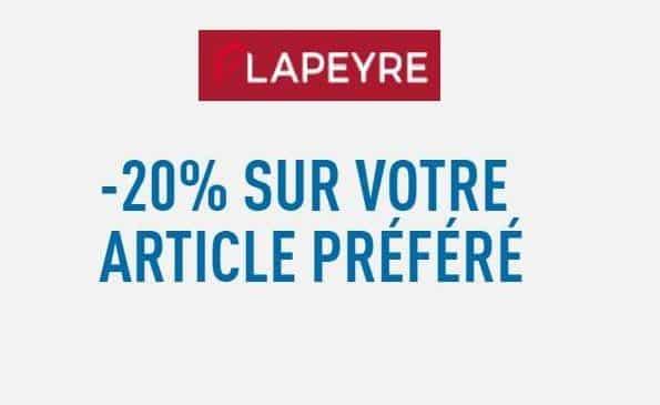 20% de remise sur l'article de votre choix sur Lapeyre