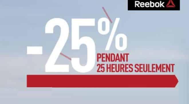 25% de remise supplémentaire sur Outlet Reebok