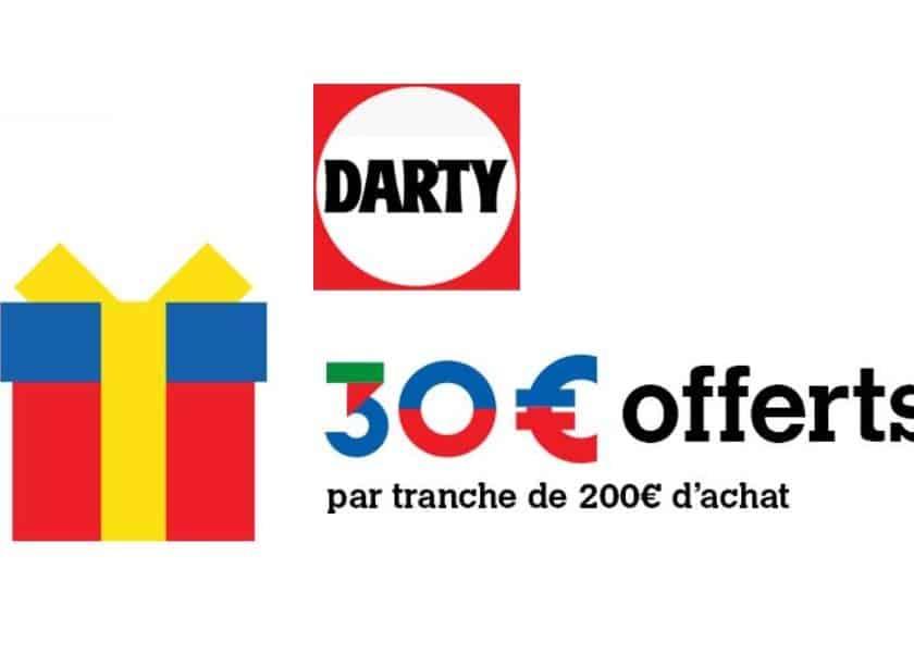 30€ offerts sur Darty par tranche de 200€