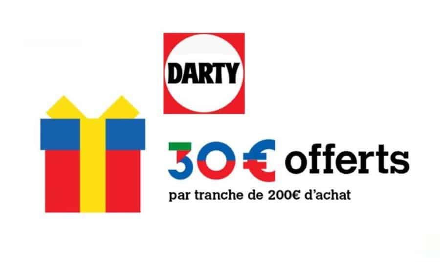 30 offerts sur darty par tranche de 200 en carte cadeau. Black Bedroom Furniture Sets. Home Design Ideas