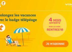 4 mois d'abonnement Télépéage gratuit (ULYS – VINCI Autoroutes) + livraison gratuite