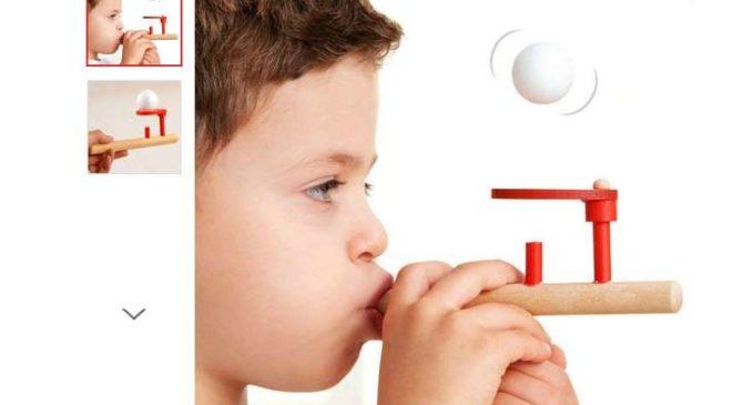 56 centimes le jouet flute équilibre de balle en bois