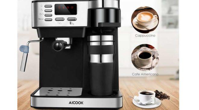 79,99€ cafetière Expresso 15 bars 3 en 1 (expresso, café filtre, cappuccino)