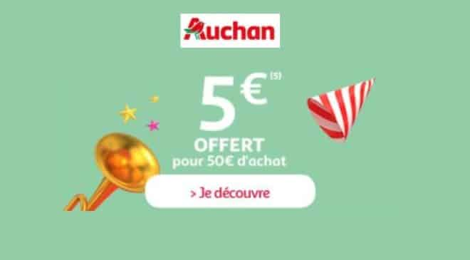 Anniversaire Auchan 5€ offerts