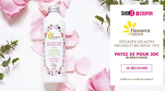 Bon d'achat Fleurance Nature cosmétiques Bio et compléments alimentaires