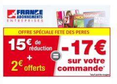 Bon plan fête des pères avec -17€ sur les abonnements magazines (sans mini) 🎁