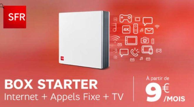 Box SFR Starter moins chère 9€ au lieu de 35€