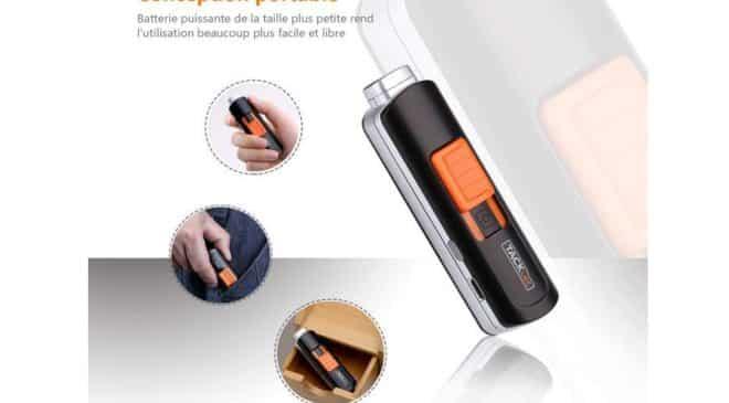 Briquet USB Tacklife Briquet Rechargeable Anti-vent et Anti-éclab
