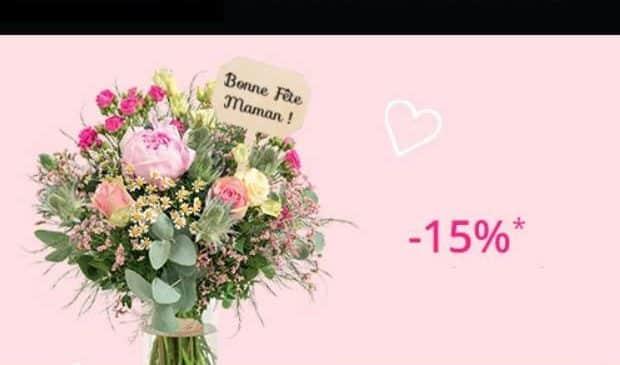 Fête des mères Interflora 15% de remise