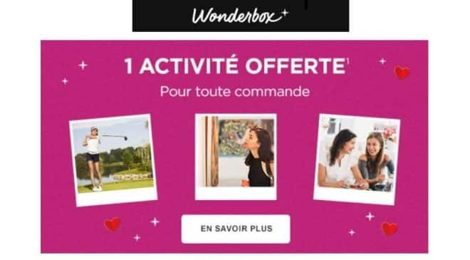 Fête des mères Wonderbox 1 coffret (même eCoffret) = 1 activité loisir gratuite