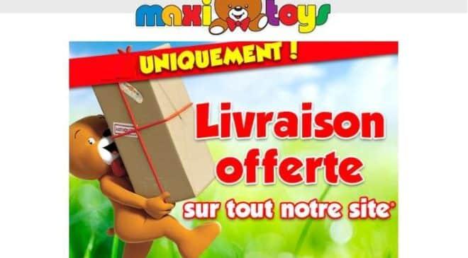 Livraison offerte sur Maxi Toys sans minimum