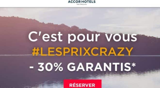 Prix Crazy Accor Hotels remise dans plus 2700 hôtels dans le monde