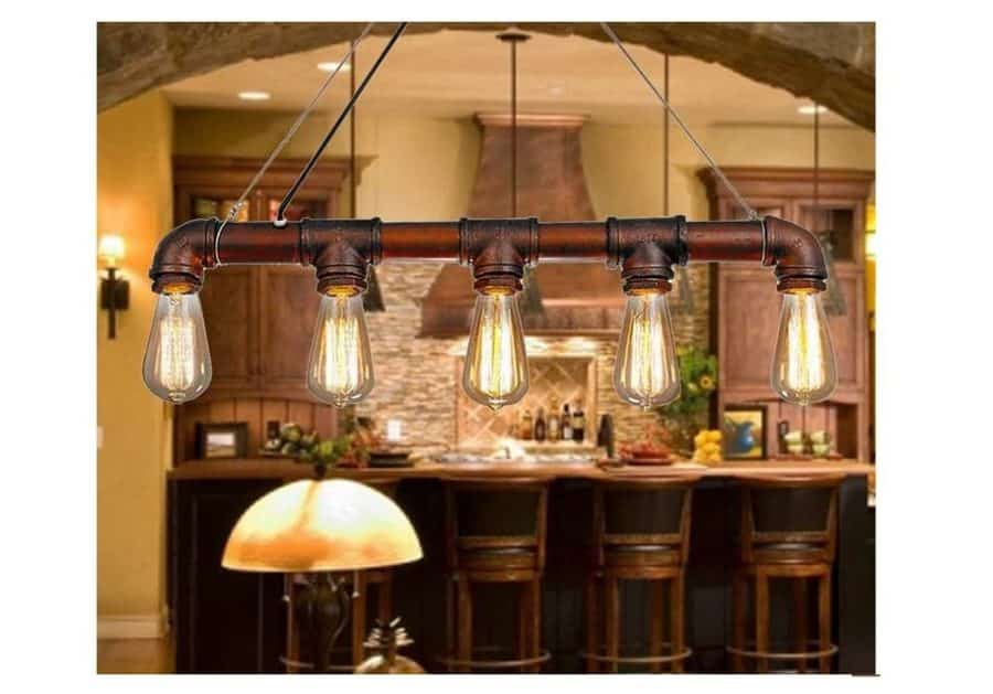 suspension vintage industriel m tal lixada moins de 40. Black Bedroom Furniture Sets. Home Design Ideas
