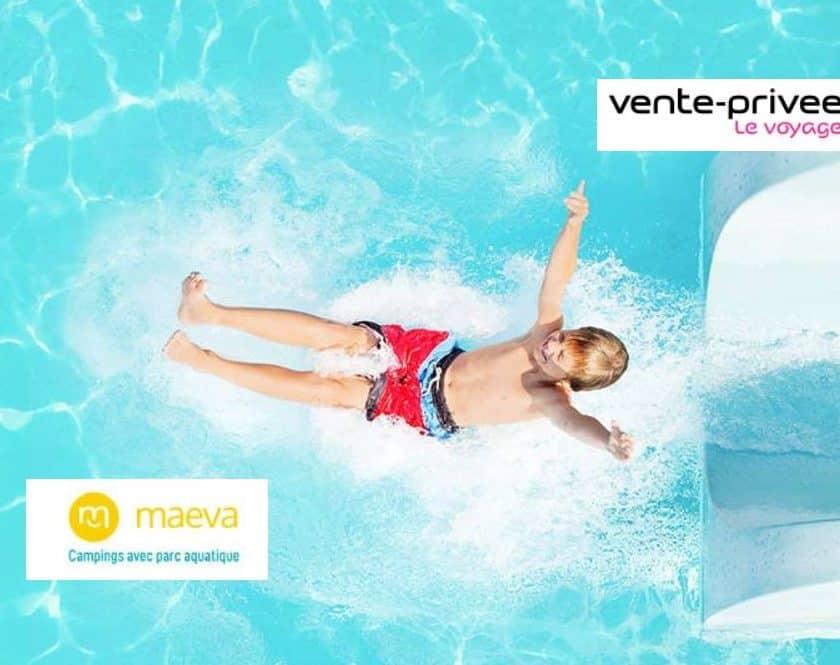 Vente privée camping Maeva avec parc aquatique