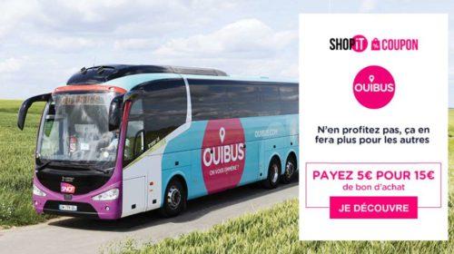 Voyage en Ouibus moins cher avec un bon d'achat