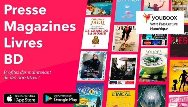 abonnement ebook illimité sur tablette, smartphone Youboox