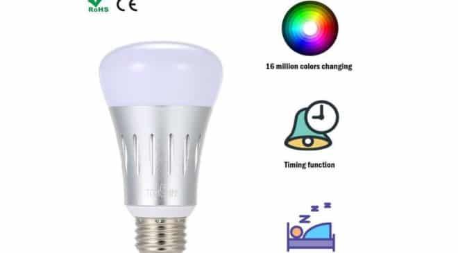 ampoule connectée LED Wi-Fi 16 millions de couleurs Tomshine