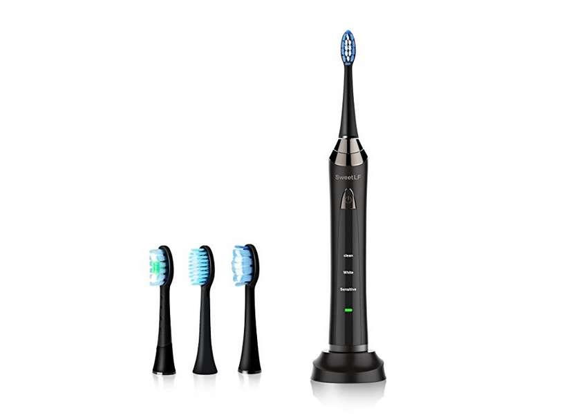 brosse à dents électrique 3 modes (blancheur, nettoyage et sensible)