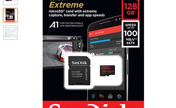 carte MicroSDXC 128 Go SanDisk Extreme + Adaptateur