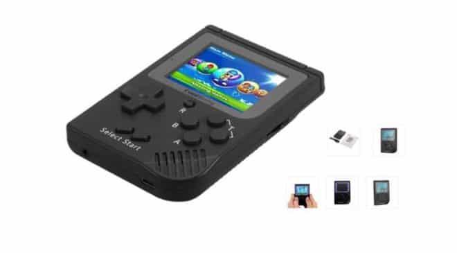 console portable retro (type Gameboy) avec 129 jeux inclus