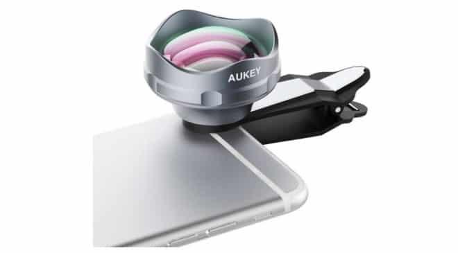 objectif zoom photo X3 pour smartphone Aukey avec clip