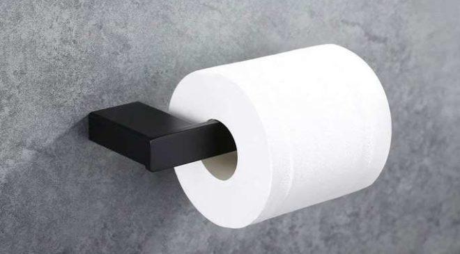porte papier toilettes mural avec fixation invisible en acier