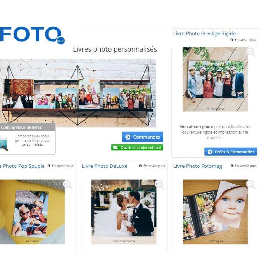 remise sur tous les livres photos sur le site Foto